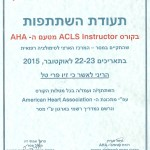 ACLS instructo by AHA